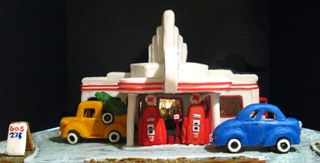 Gingerbread gas station