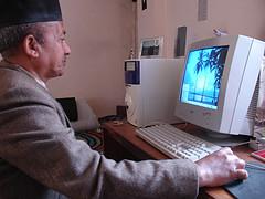 Computer and man