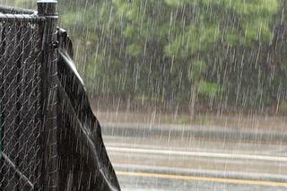 Rain pouring down