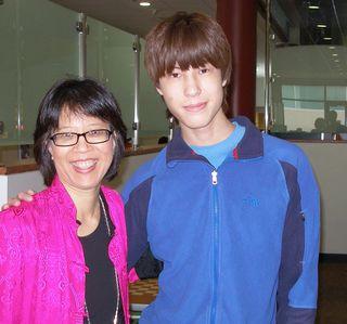 Casey and Carol, at UTD dining hall
